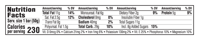 Wild Blueberry Acai  Nutritional Facts