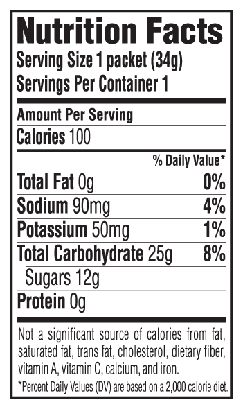 Vanilla Flavor Nutritional Facts