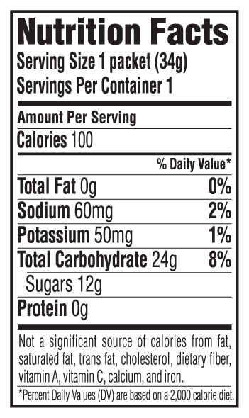 Double Expresso Flavor Nutritional Facts