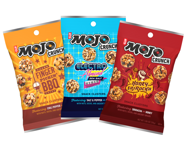 CLIF MOJO CRUNCH VARIETY PACK packaging