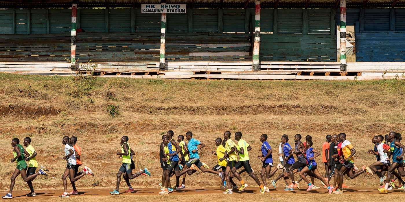 Running in Iten, Kenya